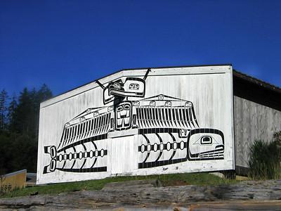 U'mista Cultural Centre at Alert Bay, on Cormorant Island, BC
