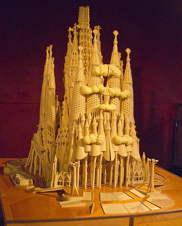 Model of the Sagrada Familia.