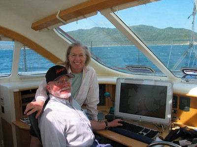 Nov, 2003: NZ again - Steve and Dorothy in Marlborough Sounds.