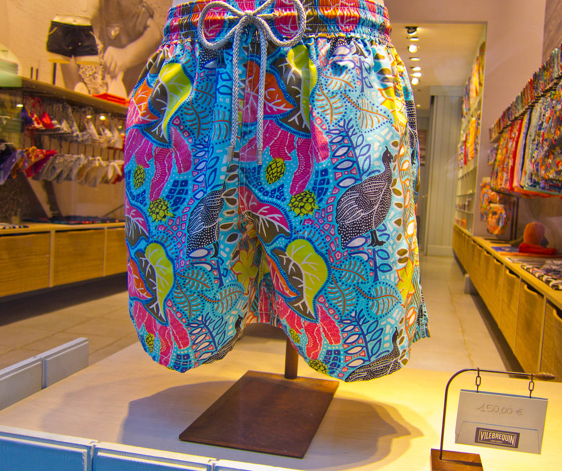€150 (!) men's swimming trunks, from San Tropez