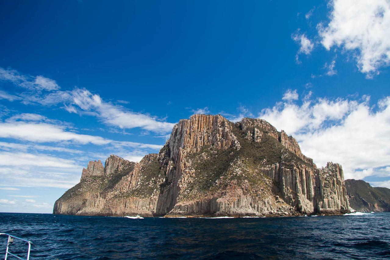 Rounding Cape Pillar, Tasmania