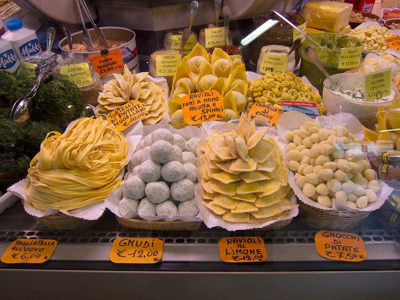 Our favorite pasta shop at the Mercato Ambrogio