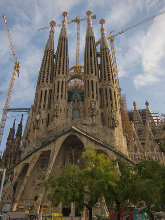 This is the Passion facade of the Sagrada Familia basilica.