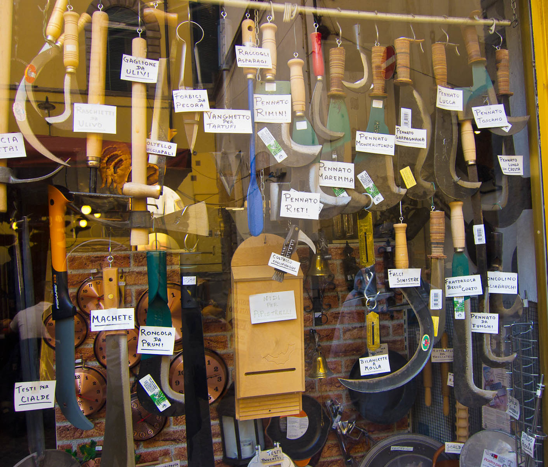 A store selling cutting tools for harvesting every type of vegetable in your garden.