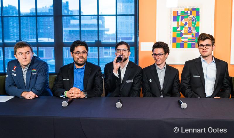 The chess elite, Saint Louis 2017