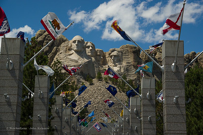 Mt Rushmore state flags