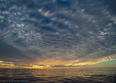The weather was changing as we departed Ouvea Atoll