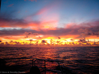 DAY 16: Winner of best sunrise of the passage  - as Penelope and Dorothy were changing watches