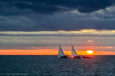 Thursday night races at Baie de l'Orphelinat