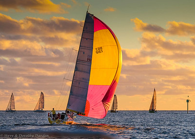 CNC Wednesday night races at sunset, Baie de L'Orphelinat