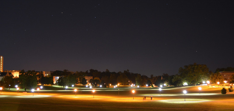 Virginia Tech Drill Field on a starry night