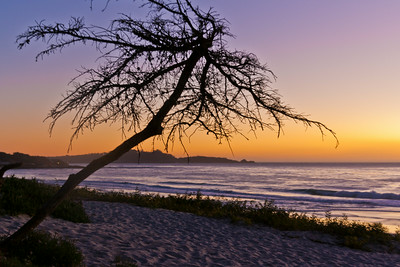 Sunset over Carmel by the sea