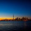 Sunset on the Islands, The City of Toronto Skyline