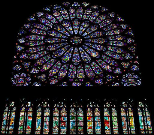 The Rose Window at Cathedrale de Notre Dame de Paris