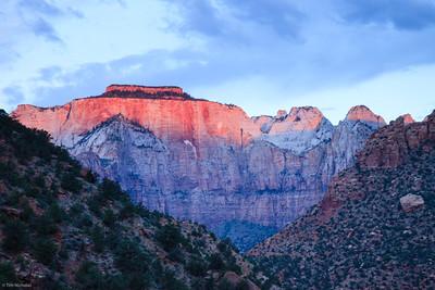 Zion: Sunrise on the West Temple