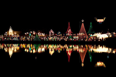 Christmas celebration of lights in Marble Falls