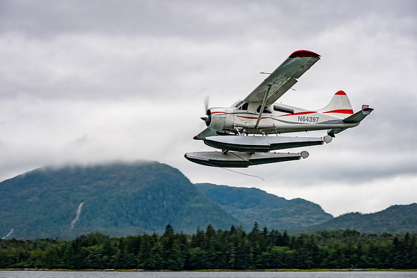 One of the many, many float planes in Ketchikan