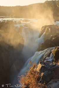 Epupa Falls misty sunrise