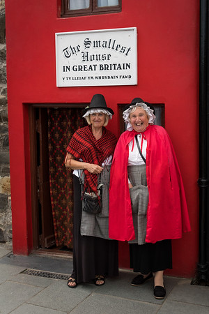 These sweet ladies were giving tours of this wee Welsh house in Conwy