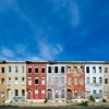 Abandoned Row Houses; Baltimore; Maryland; USA