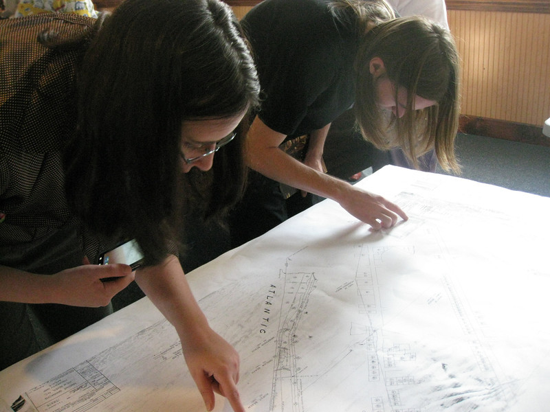 Hurst granddaughters examine the Hurst Beach properties of Area E on the 1941 map.