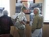 Barbara Melton Ikner (Onslow County Commissioner) and Albert Hurst have a conversation.