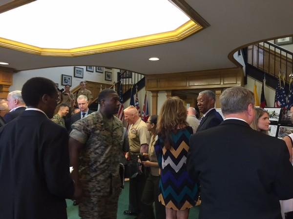 Reception in Bldg. 1 after Morning Colors