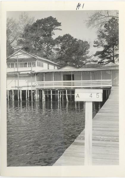 """A-45 - Recreational area on Montford Point owned by Z.E. Murrell.  The photo seen here is the location shown in a painting done by Billie Jean Murrell discussed on the web page """"Adventures of a Cub Reporter"""" at:<br /> <a href=""""http://localhistorianscorner.webs.com/montfordpoint.htm"""">http://localhistorianscorner.webs.com/montfordpoint.htm</a>"""