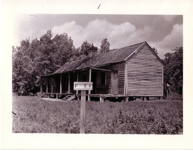 "F-54 Guss and Clyde G. Smith - Old house in ""fair"" condition was valued at $300.00. The 75.5 acres and other buildings brought a total compensation of  $1,227.00. The farm, also known as the William R. Smith home place, was located at the intersection of old Bear Creek Road and Cart Bridge Branch, also known as Smith Road."