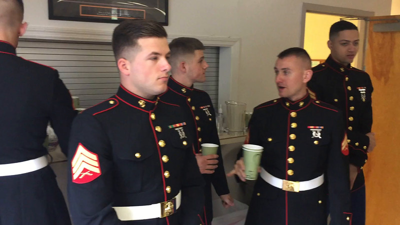 Marine Honor Guard at Remembrance