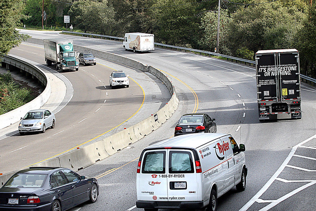 . Construction of the wildlife tunnel begins in 2020 beneath Laurel Curve where 45% of all roadkills on Highway 17 occur.  (Dan Coyro -- Santa Cruz Sentinel file)