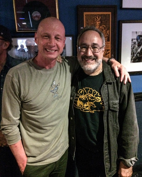 Chicago. At Buddy Guy's Legends with Bruce Iglauer, founder and president of blues music label Alligator Records.