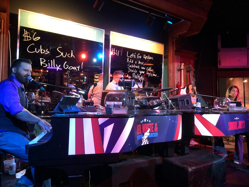 """The very entertaining """"Howl At The Moon"""" duelling piano bar, Louisville."""