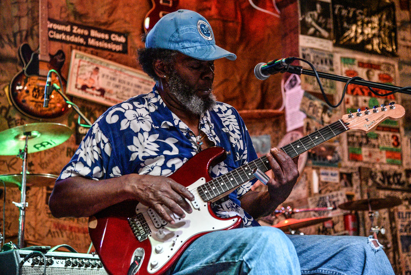 "Bill ""HowlnMadd"" Perry.  Ground Zero Blues Club, Clarksdale."