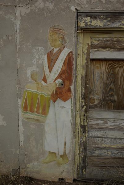 Pueblo Drummer Mural, Bluewater, New Mexico