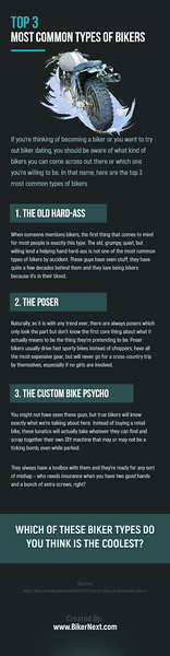 Top 3 Most Common Types of Bikers