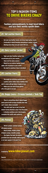 Top 5 Fashion Items To Drive Bikers Crazy