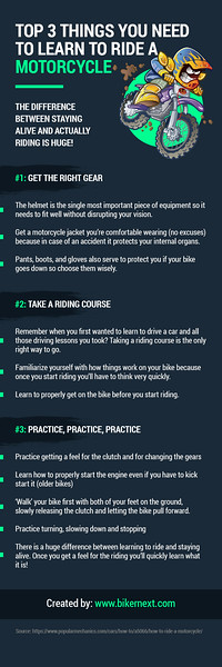 Top 3 Things You Need to Learn to Ride a Motorcycle