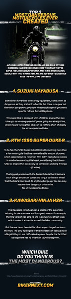 Top 3 Most Dangerous Motorcycles Ever Created