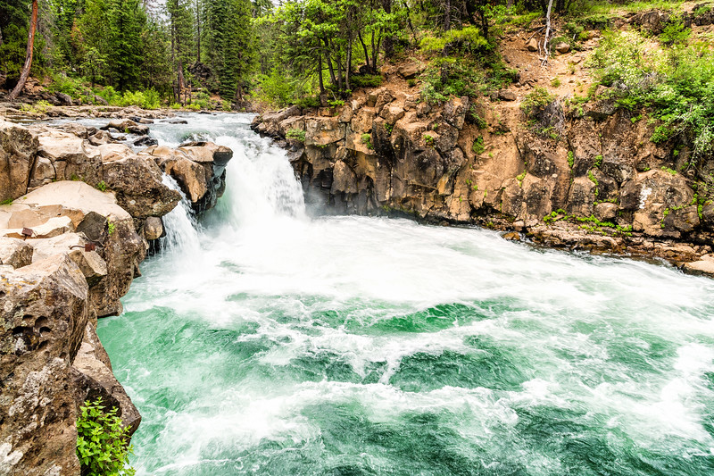 LOWER FALLS on the McCLOUD RIVER, CA