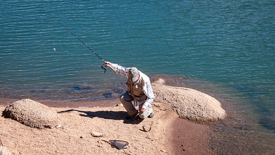 Angler with Cutthroat Trout