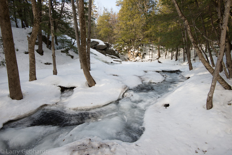River of ice below Lower Purgatory Falls