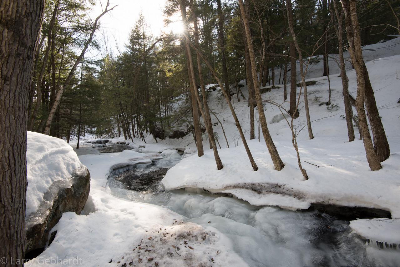River of ice below Lower Purgatory Falls