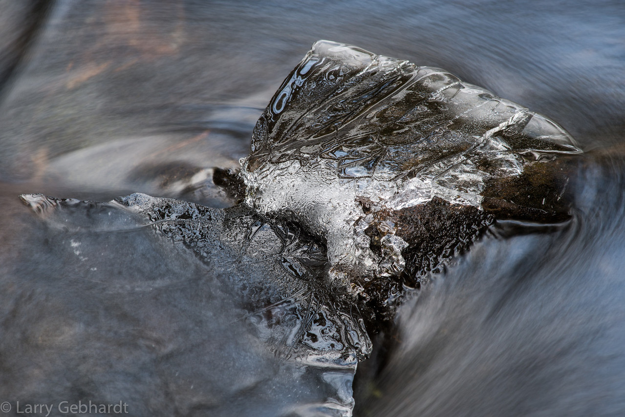 Ice cap remains on rock