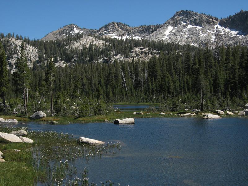 First Dinkey Lake and Three Sisters Peak