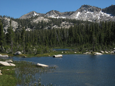 First Dinkey Lake and Three Sisters Peak