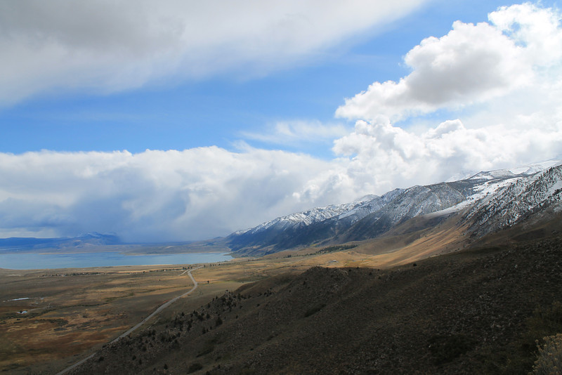 Mono Lake and Highway 395 from Conway Summit