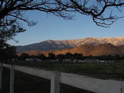 Alabama Hils and Eastern Sierra at sunrise from Lone Pine
