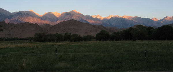 Eastern Sierra at sunrise from Lone Pine