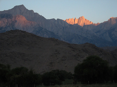 Sunrise illuminating Mt. Whitney